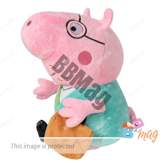 Jucarie De Plus Purcelusa Peppa – Daddy Pig
