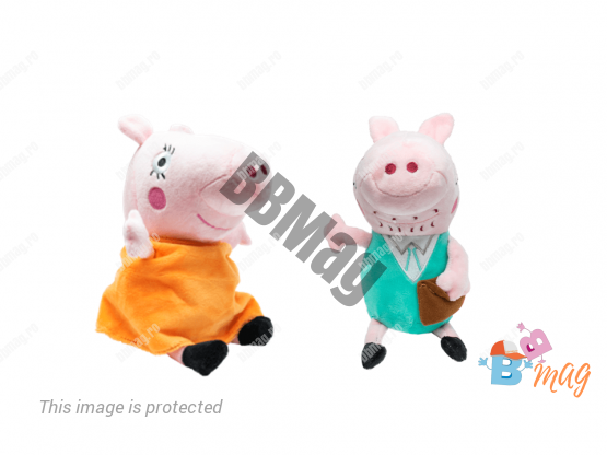 Purcelusa Peppa ,Mummy si Daddy Cu Sunete, 20 cm